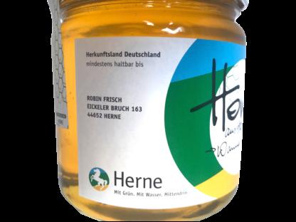 Stadthonig Herner Honig 500g Glas Etikett