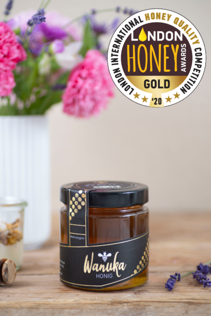 WANUKA Premium Honig 500g LONDON HONEY AWARDS GOLD GEWINNER